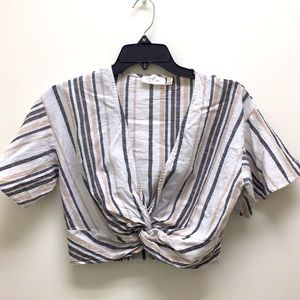 RD Style Striped Crop Top